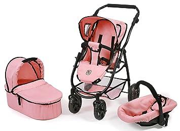 Amazon.es: Bayer Chic 2000 637 14 - Carrito para muñecas, Color Rosa: Juguetes y juegos