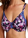 Ex Marks And Spencer Bra Womens Floral Magenta Purple Pink Non Padded Full Cup Minimiser