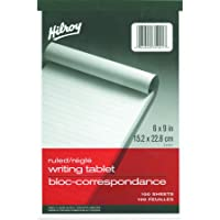 Hilroy 35901 Writing Tablet, Ruled, 6x9-Inch, 100-Sheets
