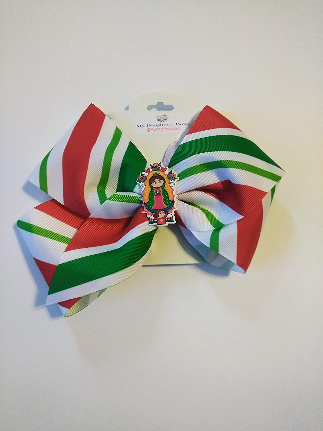 e9e07a013b5 Blessed Mary hair bow, Our Lady of Guadalupe, JoJo style hair bow, 6.5