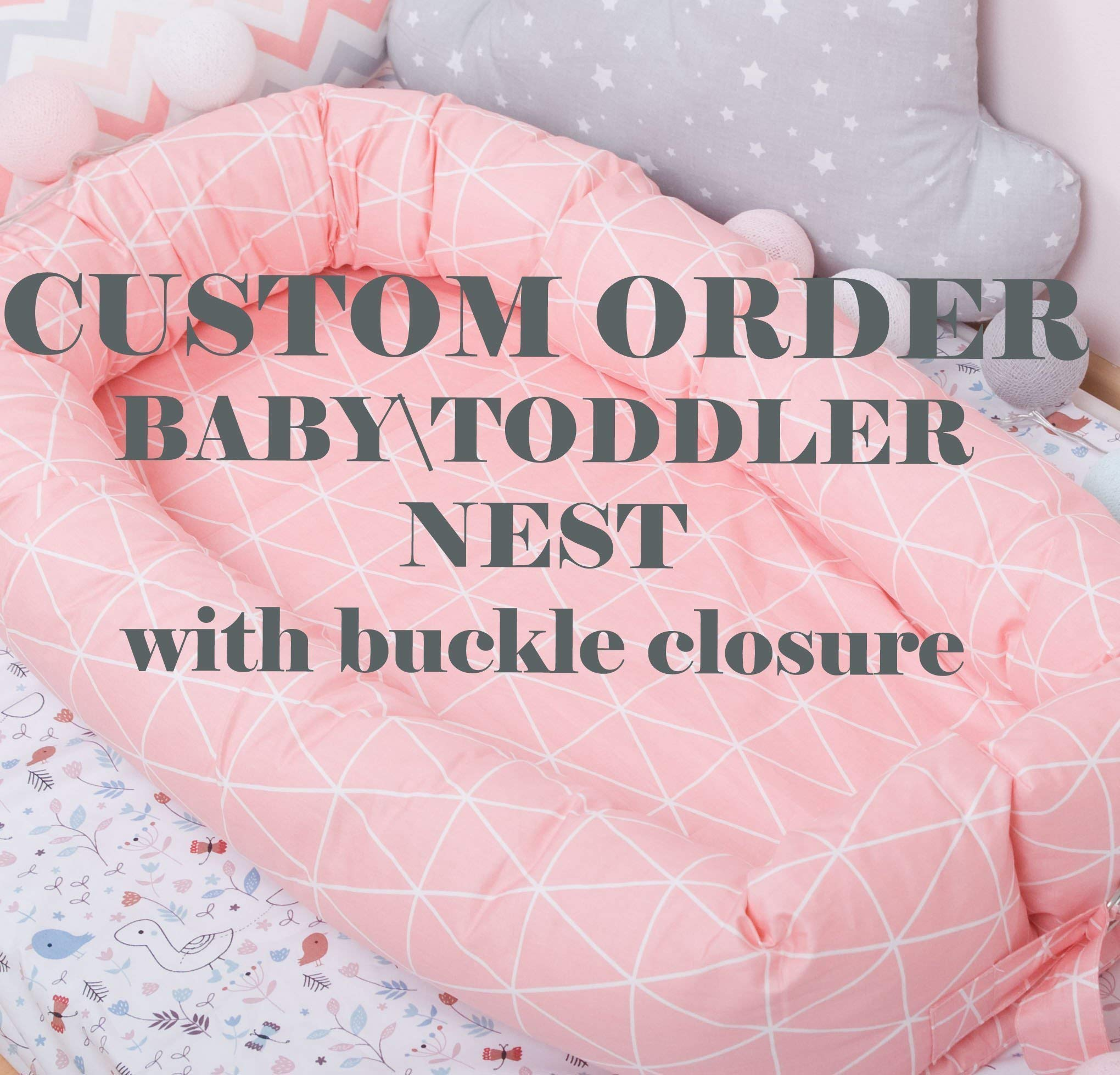 CUSTOM ORDER Baby nest with removable cover, toddler size nest bed portable crib lounger baby bassinet co sleeper babynest grand bed travel pad pod for newborn co sleeping