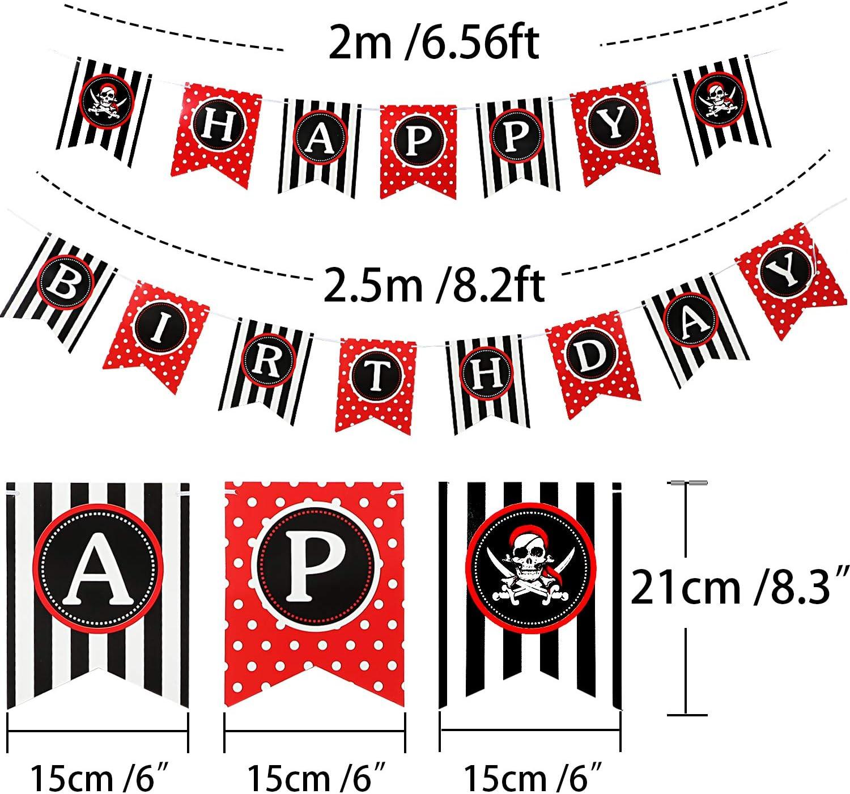 Amazon.com: 42 piezas de decoración de fiesta de cumpleaños ...