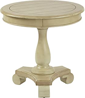 Charming INSPIRED By Bassett Avalon Round Accent Table, Antique Caledon