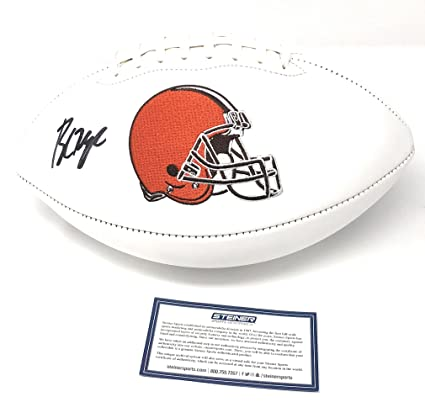 e796ea3d2 Baker Mayfield Cleveland Browns Signed Autograph Embroidered Logo Football  Steiner Sports Certified