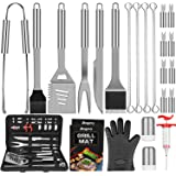 Anpro Grill Accessories BBQ Set Tools, 31 PCS Stainless Steel Grilling Kit with Grill Mats and Meat Inject, Barbecue…