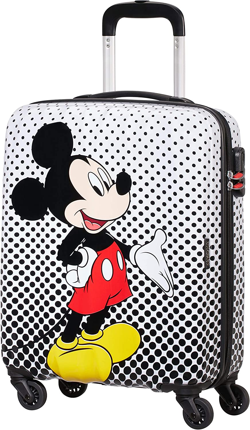 American Tourister Disney Legends Spinner S Equipaje de Mano Infantil, 55 cm, 36 L, Multicolor (Mickey Mouse Polka Dot)