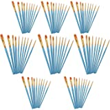 AOOK 10 Pieces Paint Brush Set Professional Paint Brushes Artist for Watercolor Oil Acrylic Painting (8-Pack 80pcs)