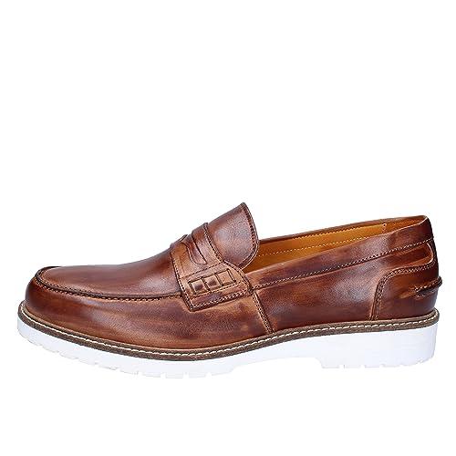 THOMAS VALMAIN Mocasines Hombre Cuero marrón 43 EU: Amazon.es: Zapatos y complementos