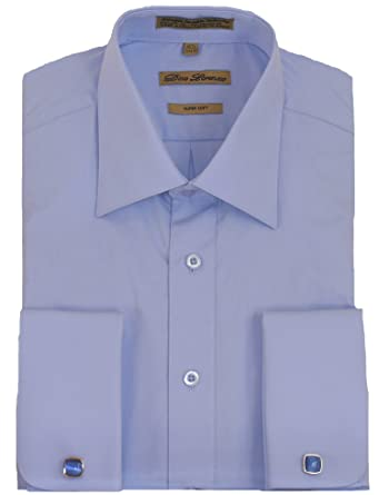 Blue French Cuff Dress Shirt (cufflinks included) at Amazon Men's ...
