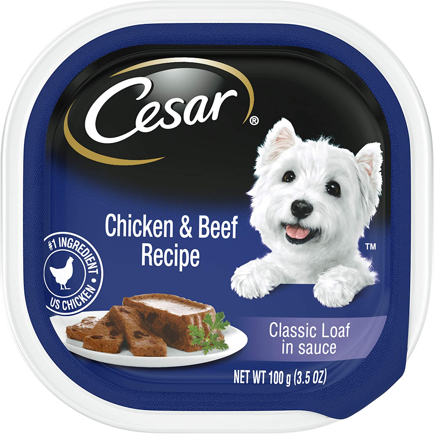 CESAR CLASSICS Loaf in Sauce Gourmet Wet Dog Food, Pack of 24