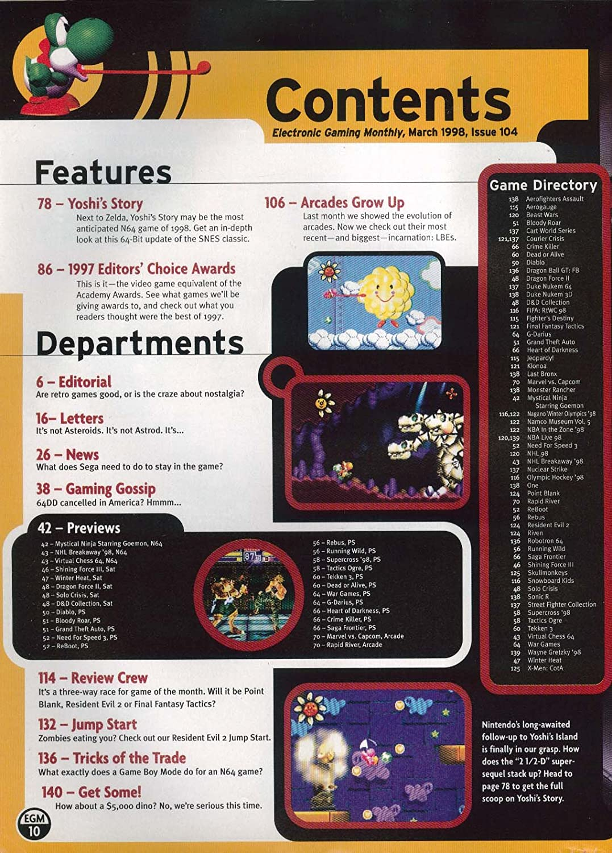 ELECTRONIC GAMING MONTHLY #104 Yoshis Story Goldeneye 007 ...