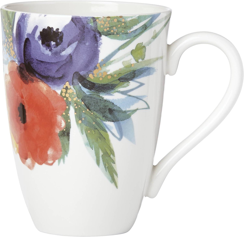 Lenox Passion Bloom Tall Mug, White