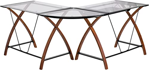 Flash Furniture Glass L-Shape Desk