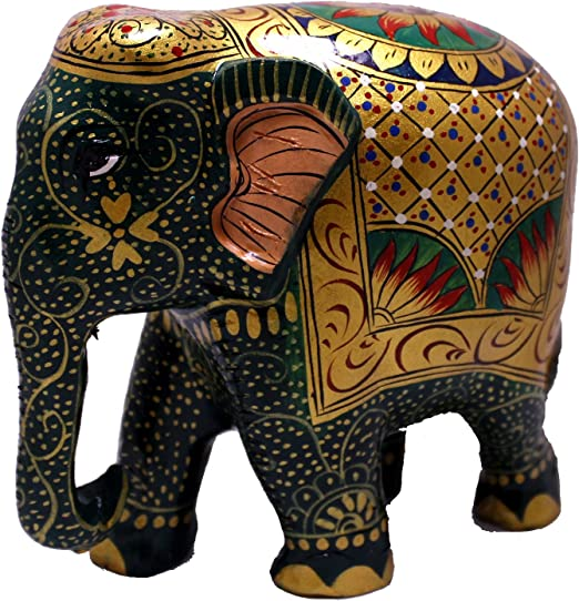 Mini Elefantes India Batik 100/% Tela De Algodón
