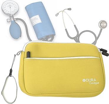 DURAGADGET Estuche De Neopreno Amarillo para Guardar Sus Accesorios Médicos (Estetoscopio/Tensiómetro: Amazon.es: Electrónica