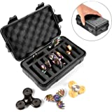 Fidget Spinner Collection Box, Hard Plastic Matte Finish Compact Storage Case to Organize up to 10 Hand Spinners, Black(Case Only, Fidget Spinners not Included)