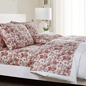 Tahari Home Modern Collection Premium Ultra Soft Lightweight Solid Sheet 6 Piece Set, Wrinkle, Stain Resistant & Hypoallergenic, King, Pheona Rose