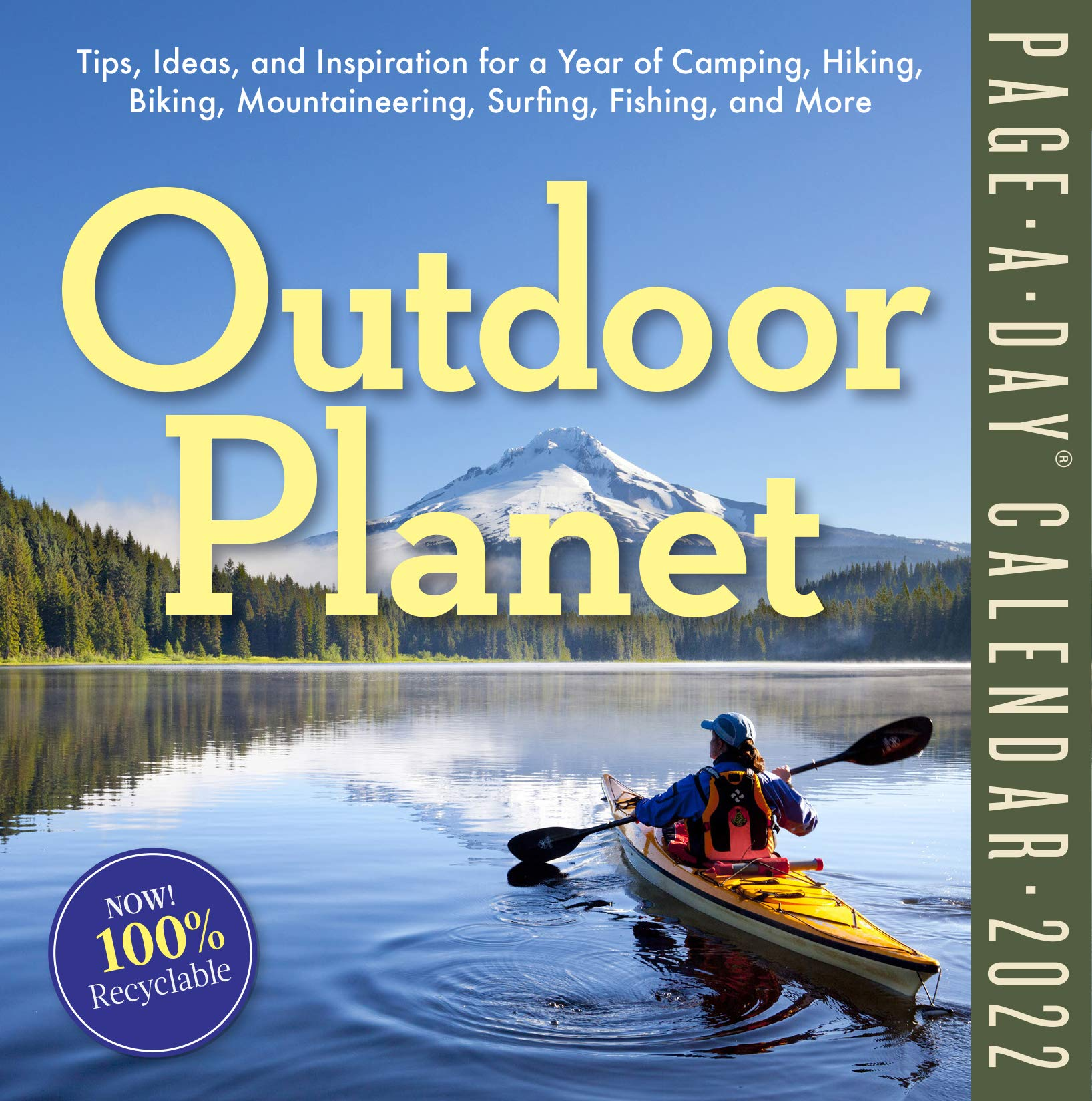 Buy Outdoor Planet Page A Day Calendar 2022 Tips Ideas And Inspiration For A Year Of Camping Hiking Biking Mountaineering Surfing Fishing And More Book Online At Low Prices In India Outdoor Planet