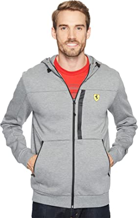 c061c90c70 PUMA Men's Scuderia Ferrari Hooded Sweat Jacket at Amazon Men's ...