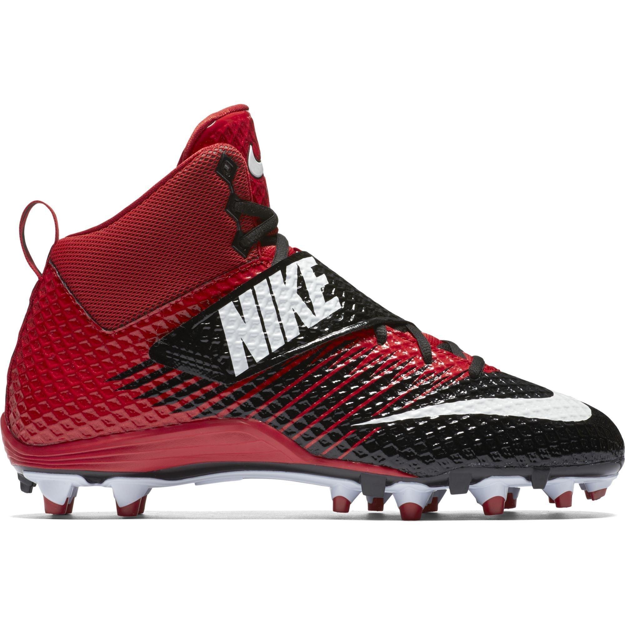 Nike Men's Lunarbeast Pro TD Football Cleat Black/University Red/White Size 10 M US
