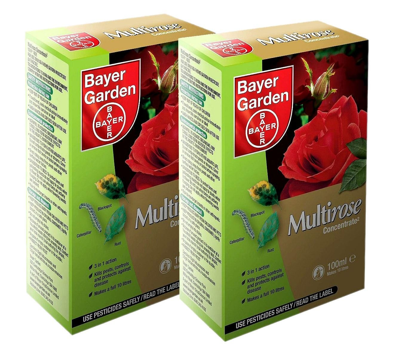 Pack of 2 Bayer Garden Multirose Concentrate 100ml