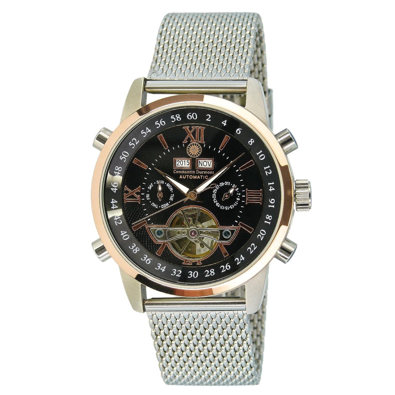 Constantin Durmont Herren-Armbanduhr Calendar Analog Automatik Edelstahl CD-CALE-AT-STM2-STRG-BK