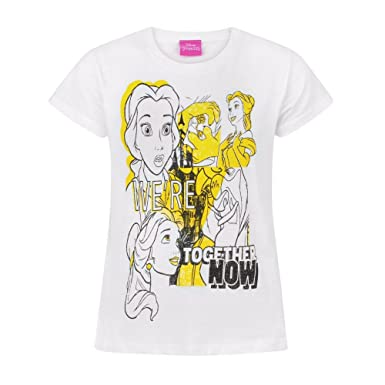 8a53146c0 Amazon.com: Disney Childrens/Girls Beauty and The Beast Belle Together Now T -Shirt: Clothing