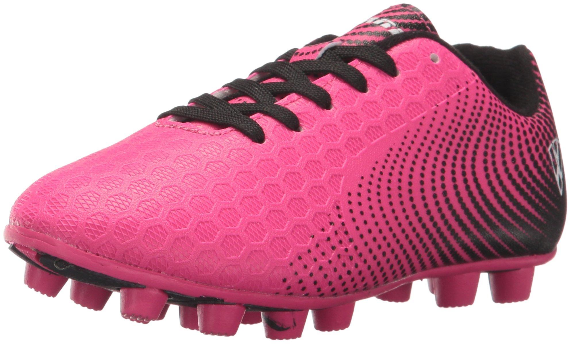 Vizari Unisex-Kids Stealth FG Size Soccer-Shoes, Pink/Black, 11 M US Little Kid