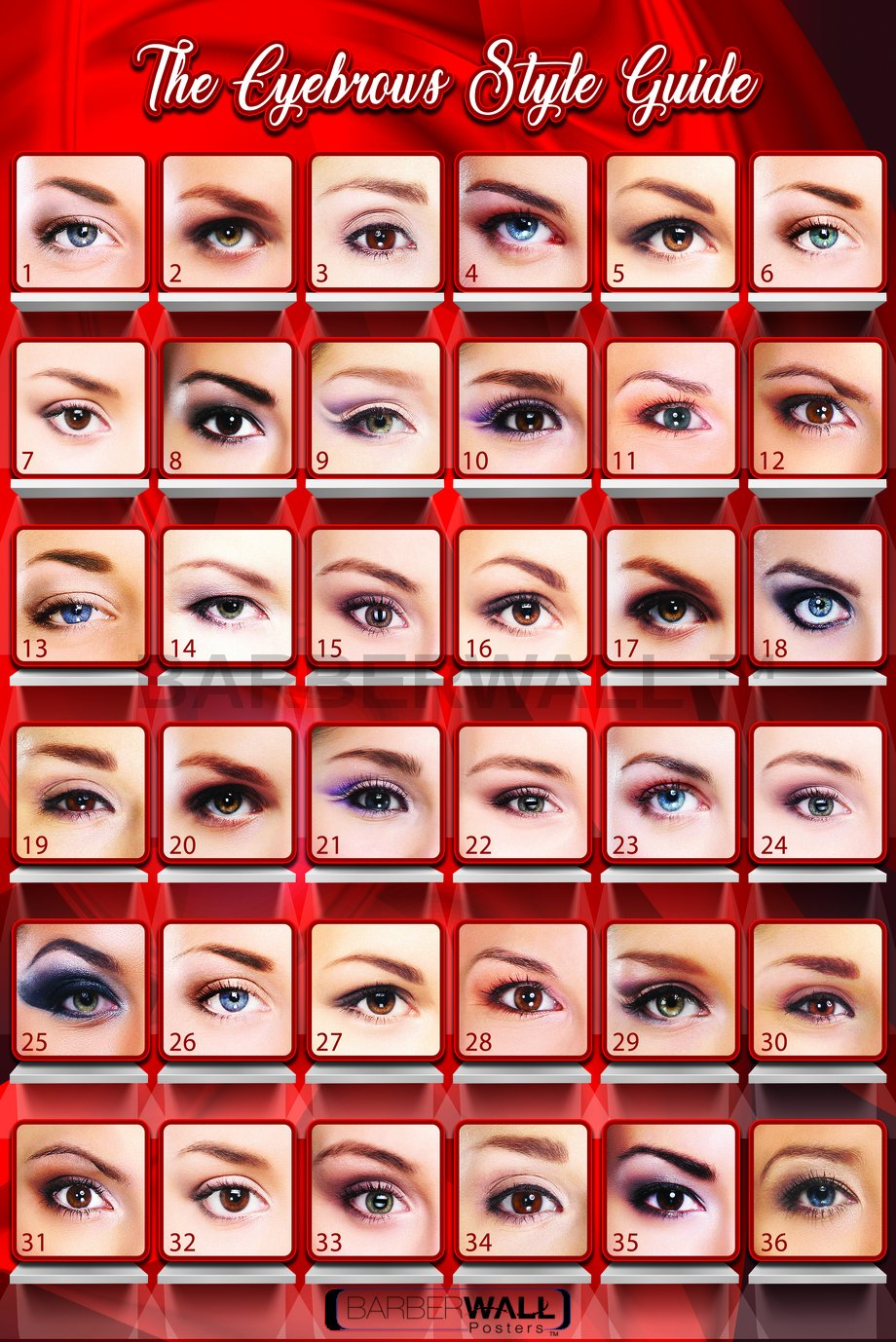 Amazon Eyebrows Poster By Barberwall Eyebrows Threading
