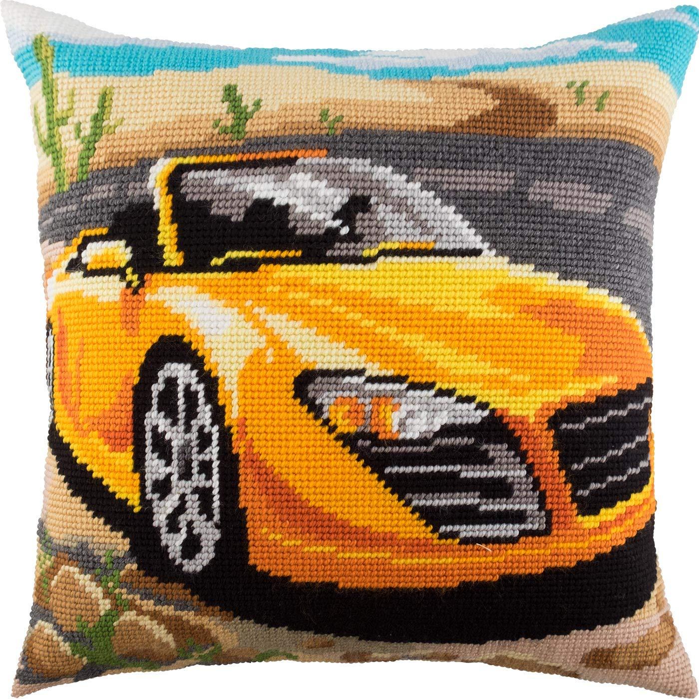 Stallion Throw Pillow 16/×16 Inches European Quality Needlepoint Kit Printed Tapestry Canvas