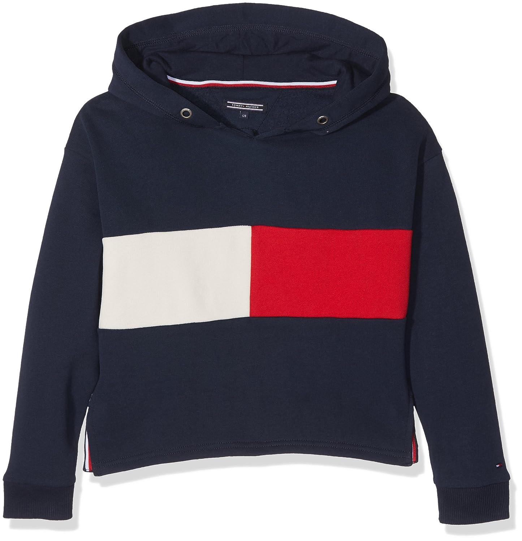 Tommy Hilfiger Mädchen Sweatshirt Flag Block Hd HWK L/S KG0KG03075