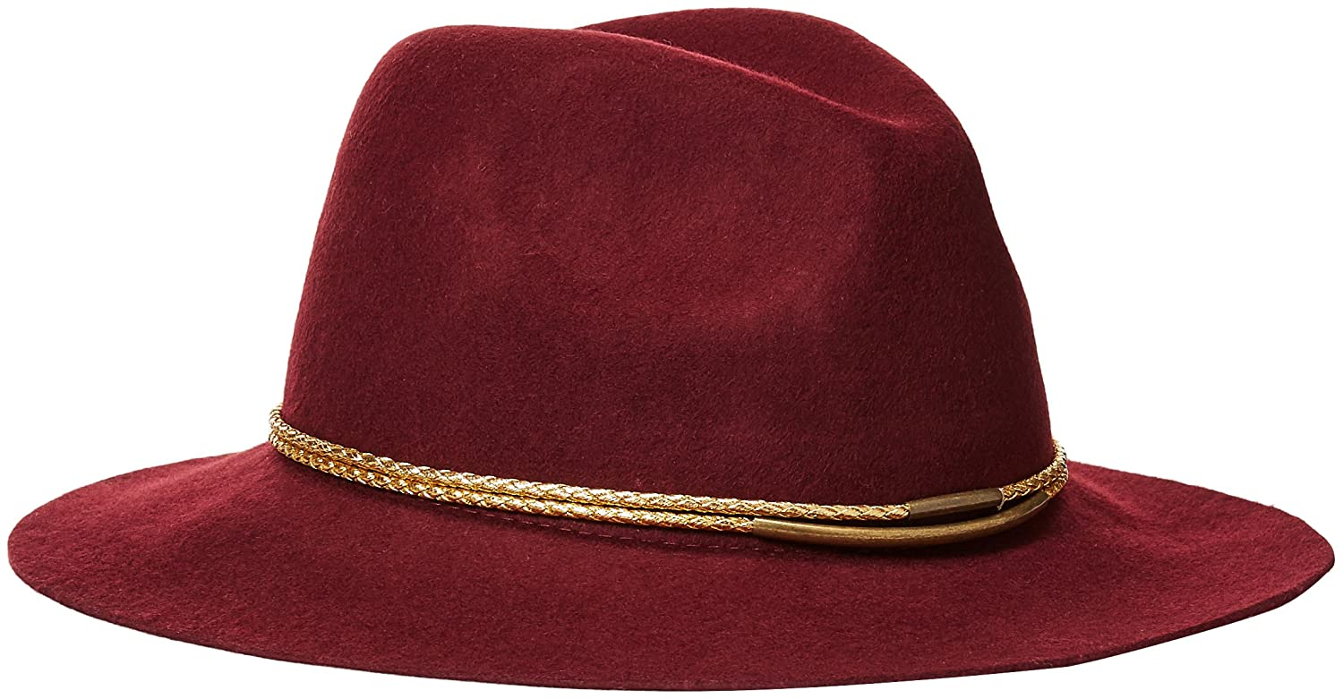 Michael Stars Women's Gilded Rancher Wide Brim Wool Felt Hat Heather Oxide One Size Michael Stars Women' s Accessories MS16402
