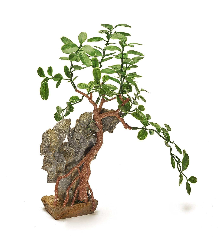 Pistachio Pet Hermosa Planta Realista de Acuario con Base de 28 cm de Alto /¡Nuevo para 2017!