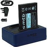 Batteria + Caricabatteria doppio (USB/Auto/Corrente) per Drift HD (1080p), HD170 (Stealth), HD720 / Toshiba Camileo H20 ... / Ricoh Caplio RR10 uvm... v. lista