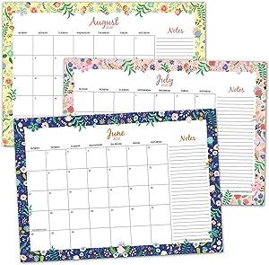 Sweetzer & Orange 2020 Calendar. 16 Month Desk Calendar 2020-April 2021 – Floral Border Monthly Planner, Daily Desk Pad Calendars for Home or Office Organization. 12 x 17 Desktop or Wall Calendar