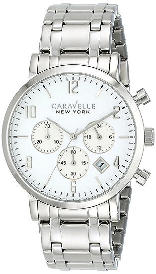 85e0f1b0b03 Bulova Caravelle New York Men s 43B138 Analog Display Japanese Quartz White  Watch  Amazon.ca  Watches