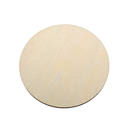 Yuhoshop 10pcs 35 Wide X 18 Inch Wooden Circles Plain Unfinished Wood Craft For Diskstagsearringsweddingplaquejewelry Diy