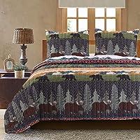 Greenland Home Black Bear Lodge Quilt Set