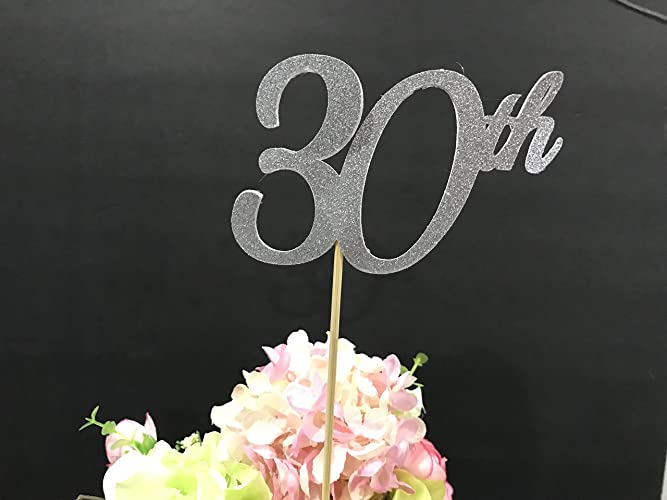 30th Birthday Centerpiece Sticks Glitter Decoration Table Decorations Age