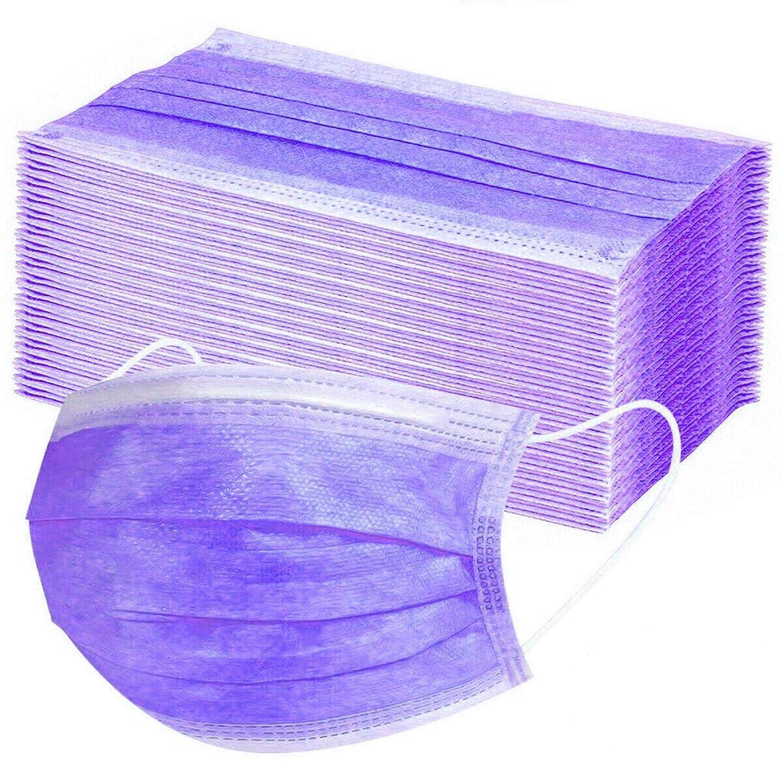 10PC, Azul marino Winwintom-2020 Adulto Protecci/ón 3 Capas Transpirables Impresi/ón Solid Color con El/ástico para Los O/ídos Pack 10//20//30//50//100 unidades-Winwintom-KZ101620
