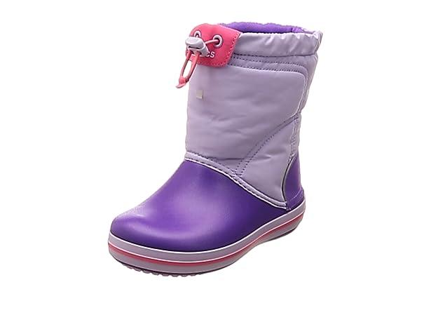 Crocs Kids' Crocband LodgePoint Boot Snow, Purple (Lavender/Neon Purple 5p8), 5 UK 37/38 EU,Crocs,203509