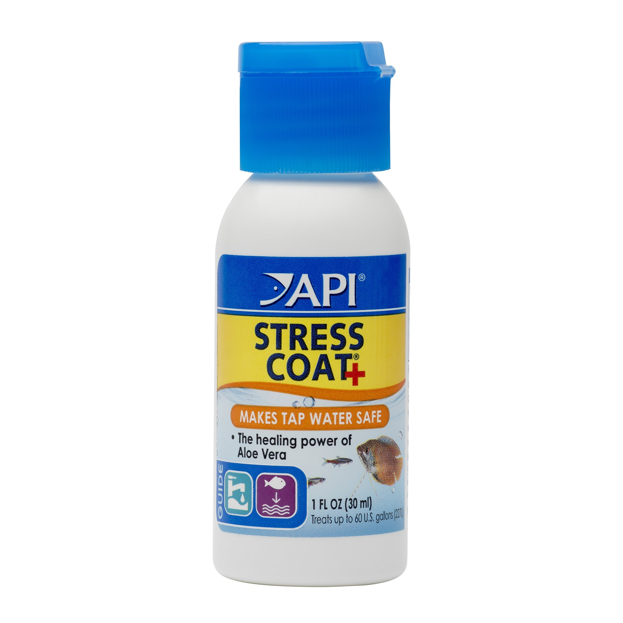 API Stress Coat Water Conditioner, Makes tap Water Safe, Replaces fish's Protective Coat Damaged by handling or Fish…