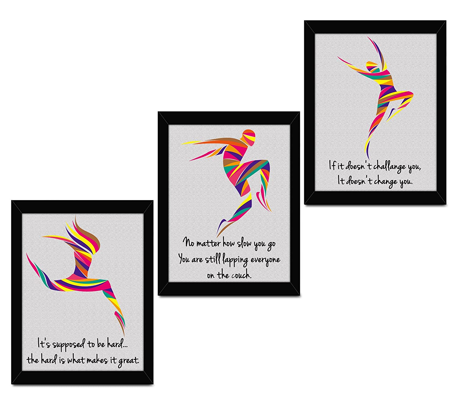 TIED RIBBONS Motivational Posters For Office And Home Decor Framed Quote For Inspiration Set of 3 (13.6 inch X 10.2 inch)
