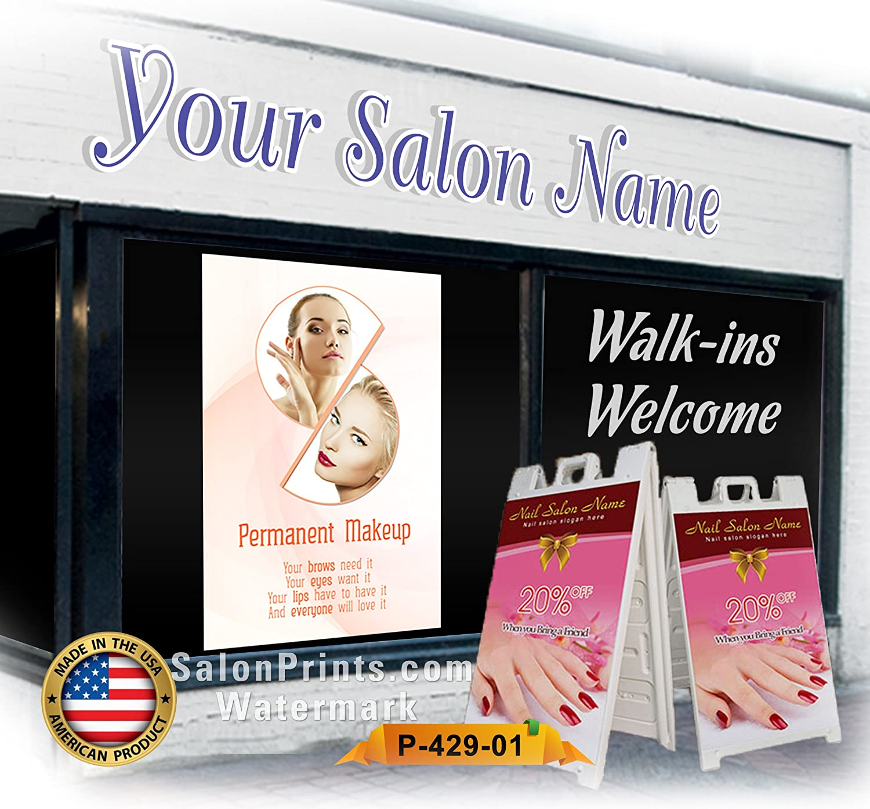 Nail Salon Poster Permanent Eyebrows P-564 Full Lips Poster