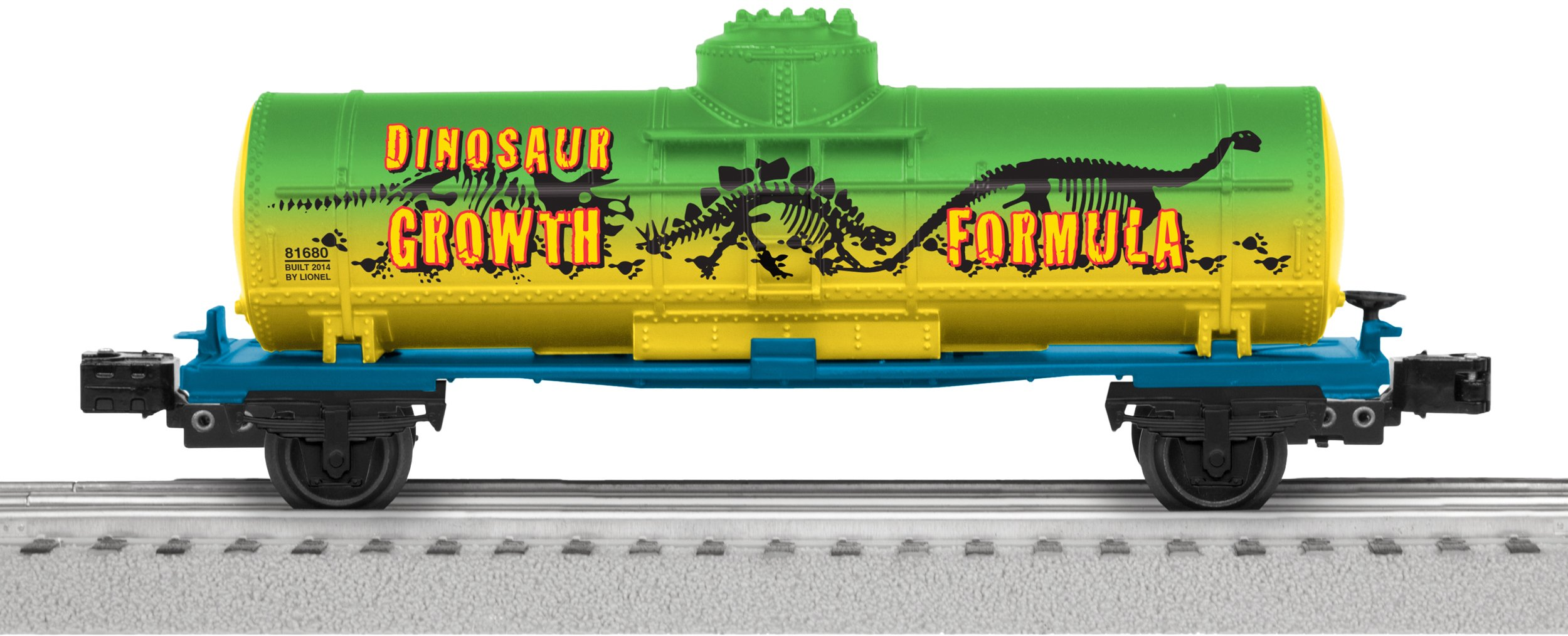 Lionel Trains Dinosaur Single-Dome Tank Car