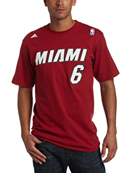Adidas Miami Heat de la NBA Lebron James Nombre & número Camiseta, Hombre, Miami