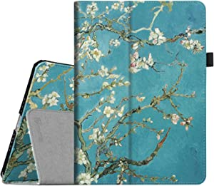 Fintie Folio Case for iPad Air 2 - Premium Vegan Leather Slim Fit Case Smart Stand Protective Cover Auto Sleep/Wake Feature for iPad Air 2, Blossom