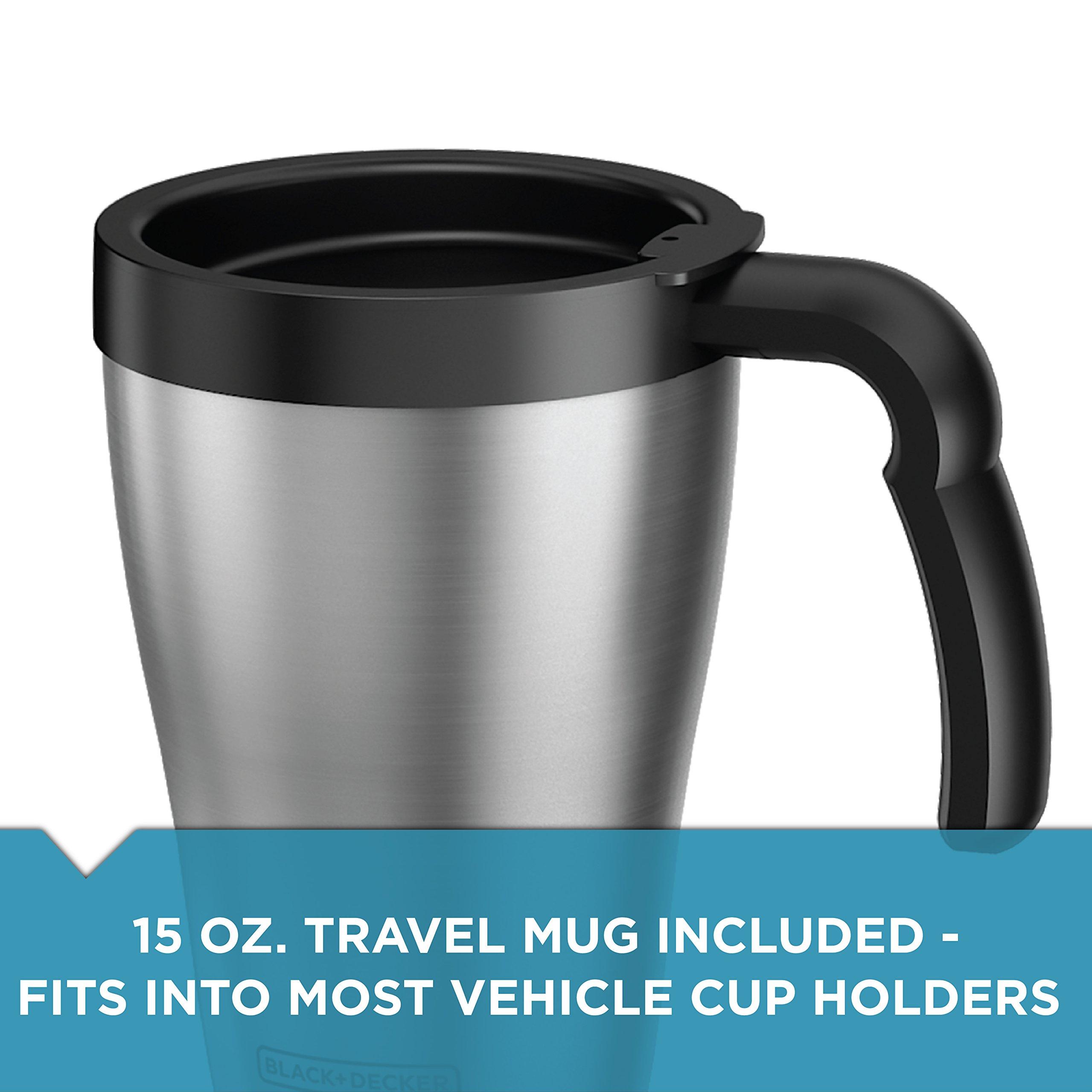 BLACK+DECKER DCM18S Brew 'n Go Personal Coffeemaker with Travel Mug, Black/Stainless Steel by Black & Decker (Image #7)