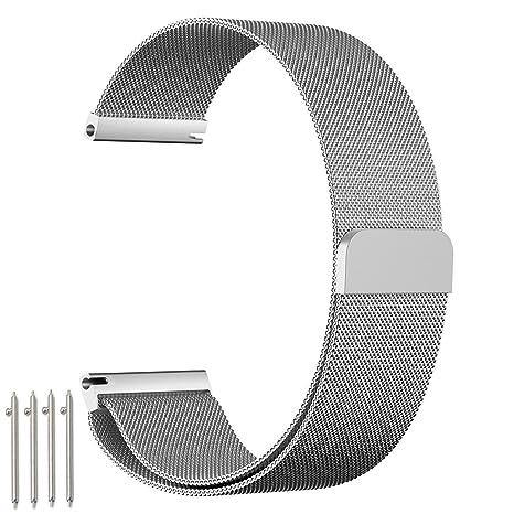 Samsung Gear S3 Frontier / Classic Correa, 22mm Watch Correa, einBand SmartWatch Correa Reemplazo de Acero Inoxidable ...