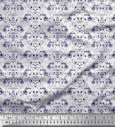 Soimoi Azul Georgette poli Tela Textura tela de camisa tela estampada de costura de tela 42 Pulgadas de ancho: Amazon.es: Hogar